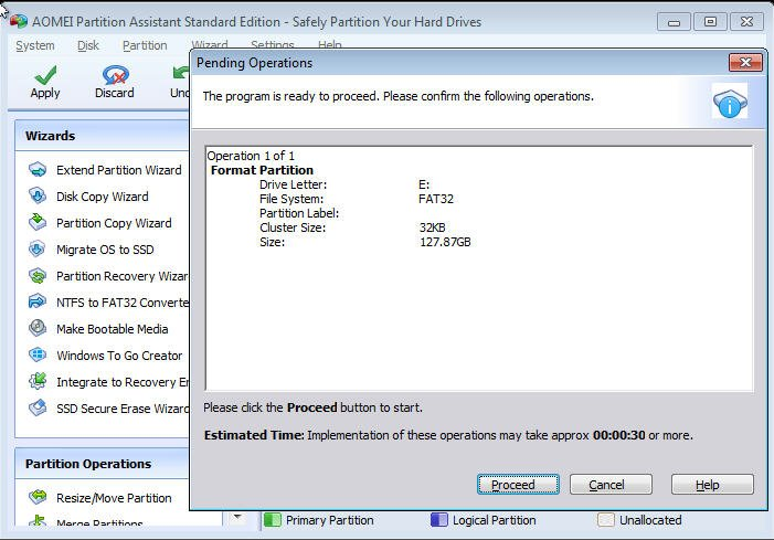 Format 128GB Flash Drive to FAT32 in Windows 7/8/10