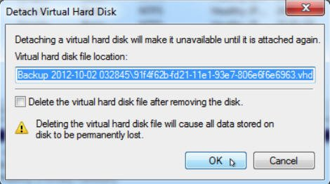 how to delete windows image backup