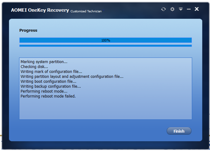 Try Aomei Onekey Recovery To Backup