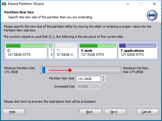 how to partition c drive