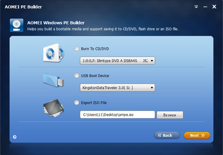 How To Create A WinPE Bootable Media With AOMEI PE Builder