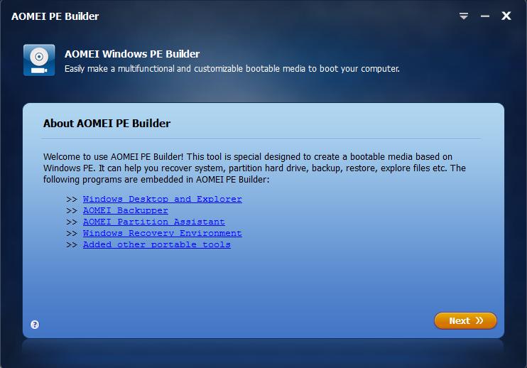Make A Bootable USB Using AOMEI PE Builder