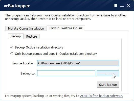 Free Oculus Backup Software - vrBackupper Review